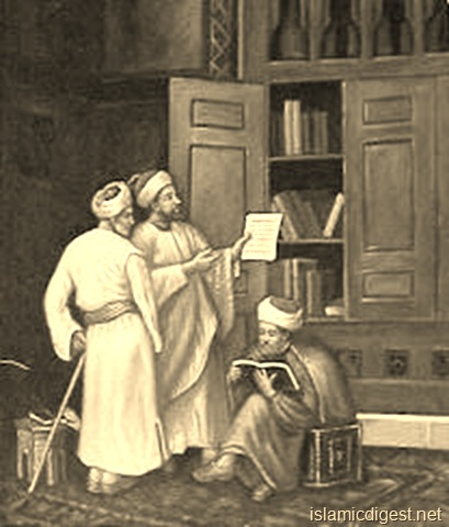 scholars reading book